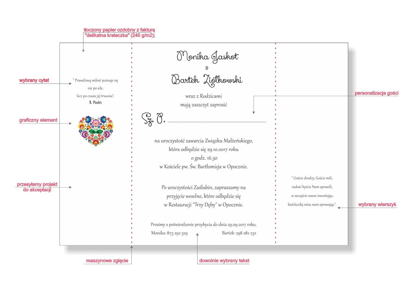 Ludowe Zaproszenia Weselne Tanie Zaproszenia Na ślubne Folk
