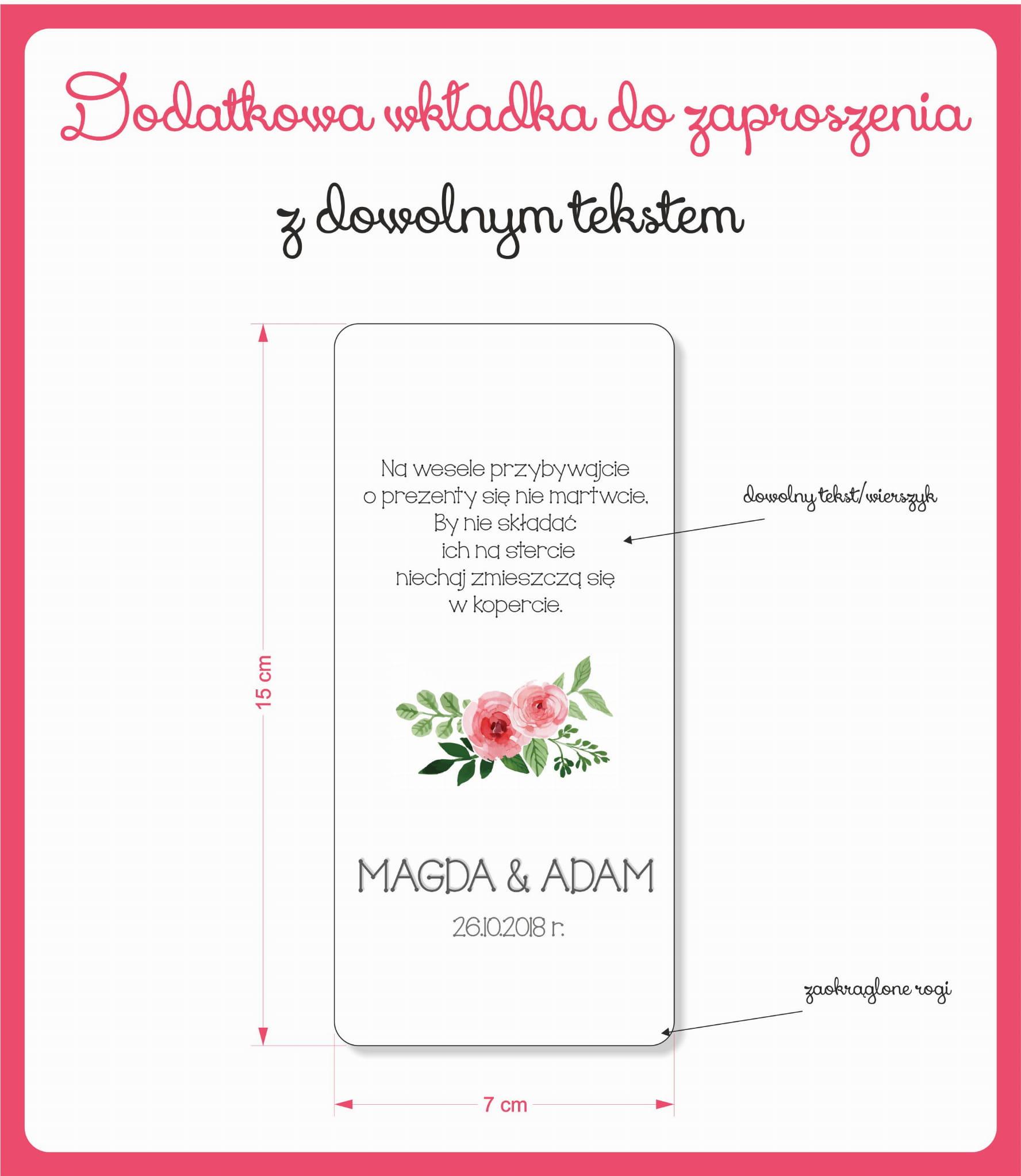 Zaproszenia ślubne Pudrowy Róż Zaproszenia Weselne